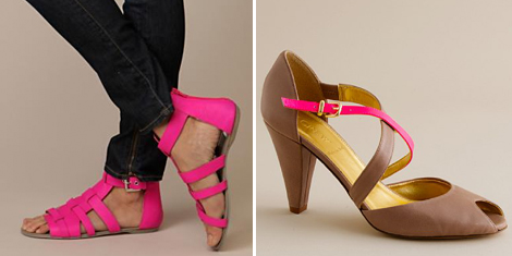 Hot-neon-pink-shoes