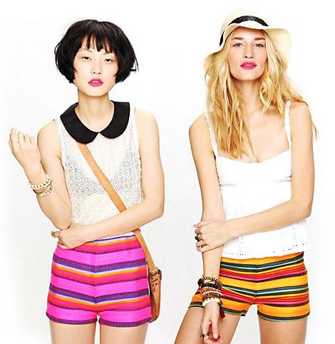 Free-people-stripe-shorts