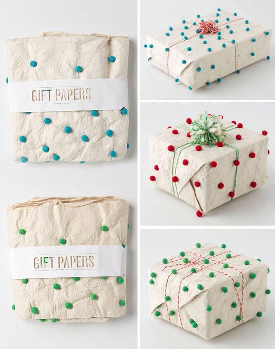 Anthropologie-pom-pom-gift-wrap