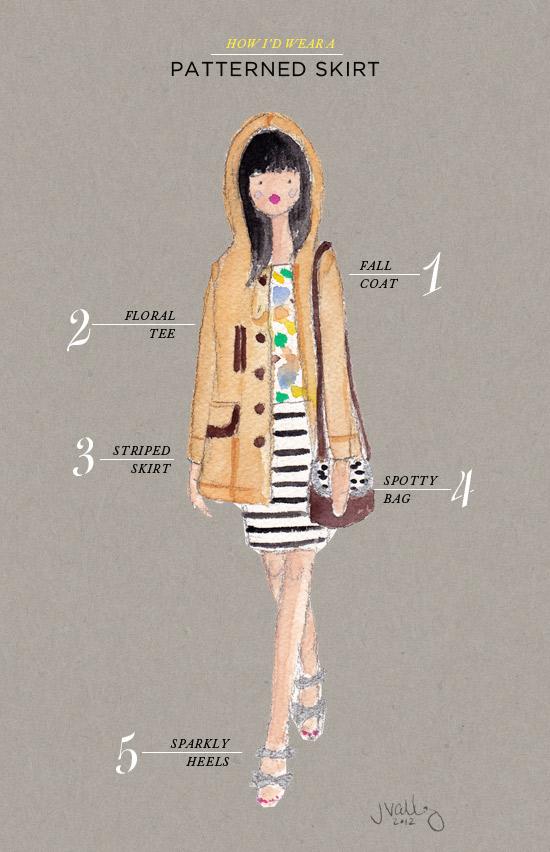 Oh Joy | How I'd Wear a Patterned Skirt