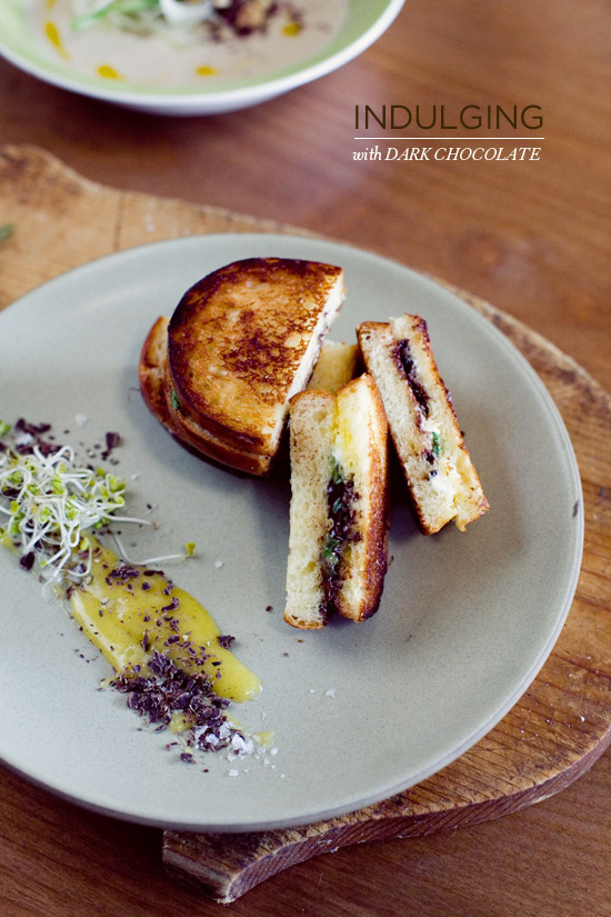 Oh Joy | Brioche and Dark Chocolate Grilled Cheese Sandwich