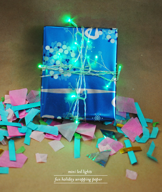 Oh Joy | Use mini-LED lights to wrap a gift!