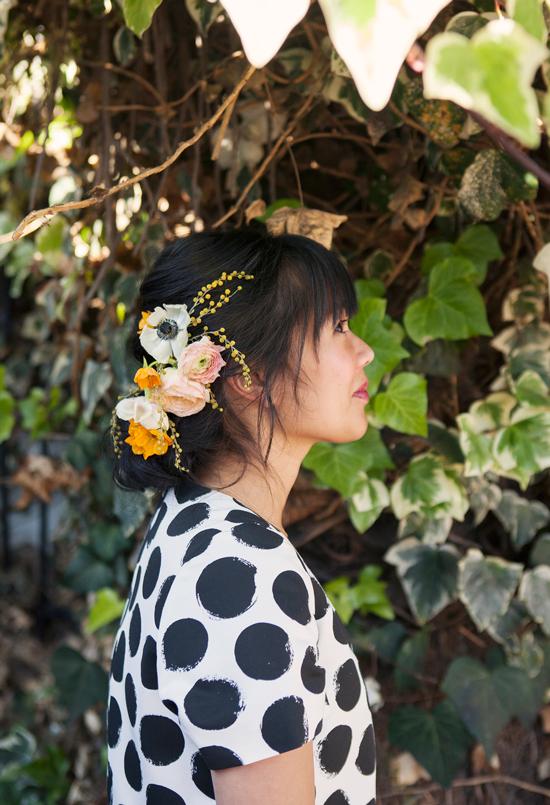 Oh Joy + Irrelephant | Pretty Floral Updo