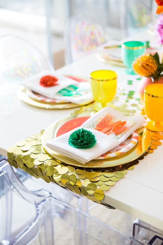 DIY Confetti Table Runner
