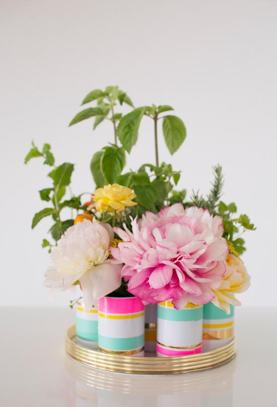 Oh Joy / DIY Floral Herb Centerpiece