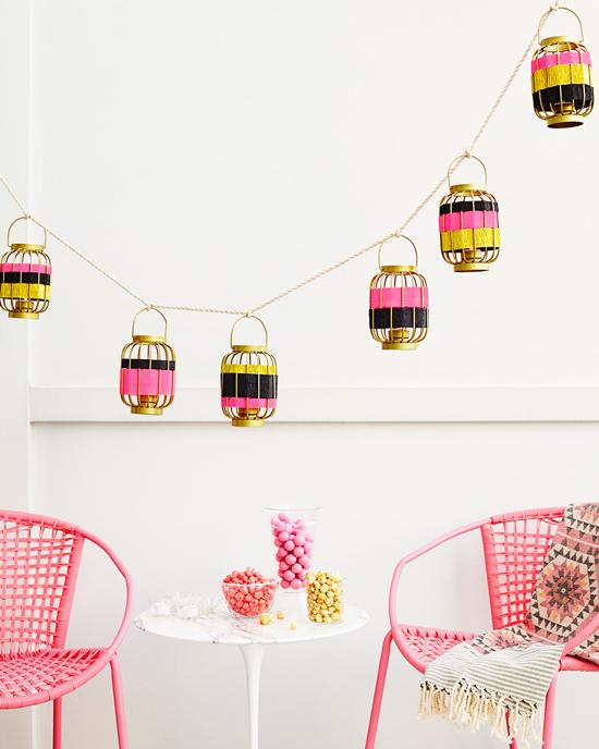 Striped Lantern Garland DIY / by ThussFarrell for Oh Joy