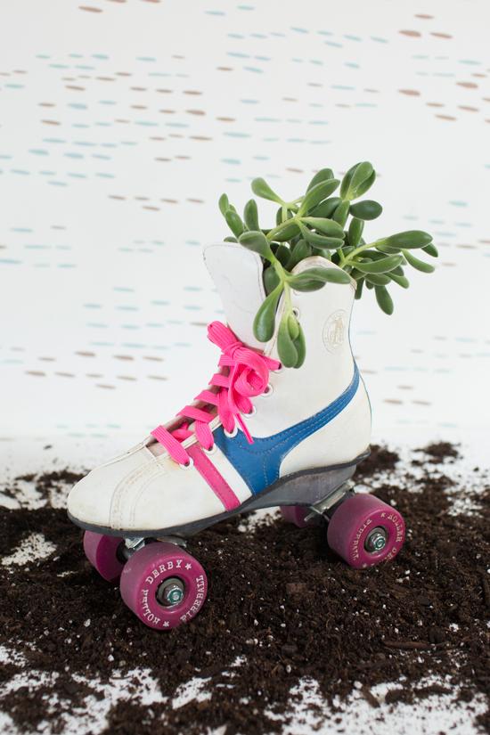 Vintage Roller Skate Planter DIY