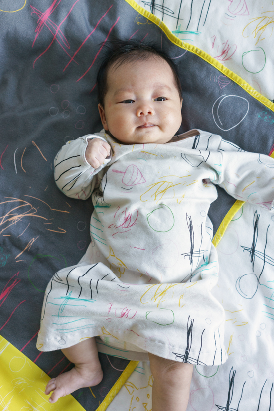 Oh Joy / Baby Blanket with Drawings by Ruby