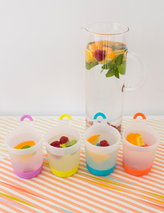 Fruit Water in Puj Phillup Cups