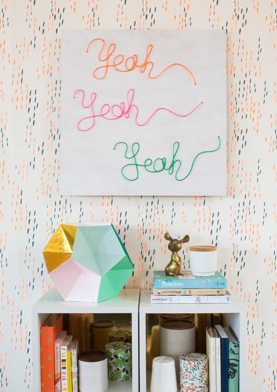 Custom Neon Sign DIY / Oh Joy Book