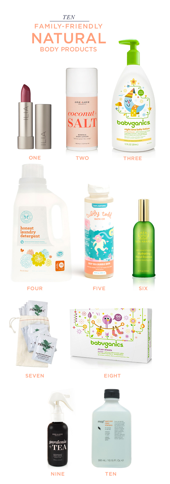 10 Family-Friendly Natural Body Products