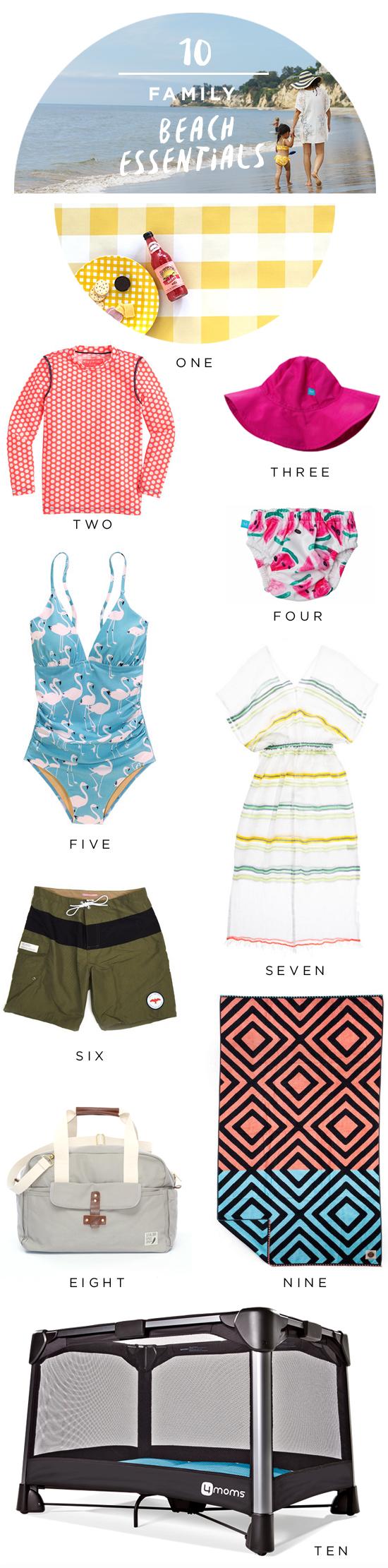 10 Family Beach Essentials