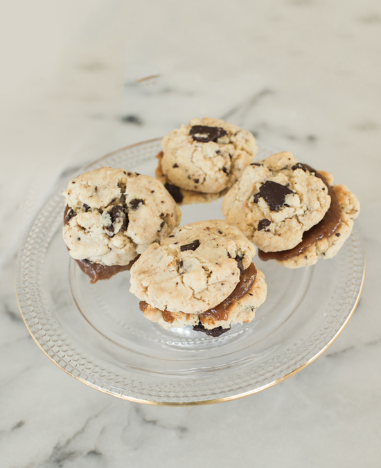 Chocolate Chip and Caramel Sandwich Cookies