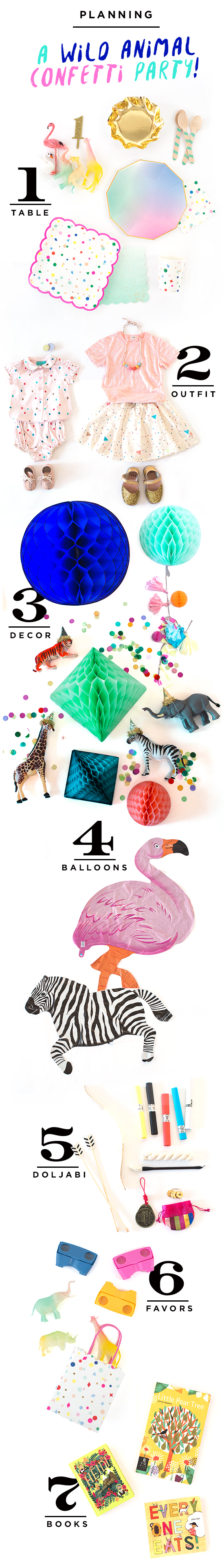 A Wild Animal Confetti Party