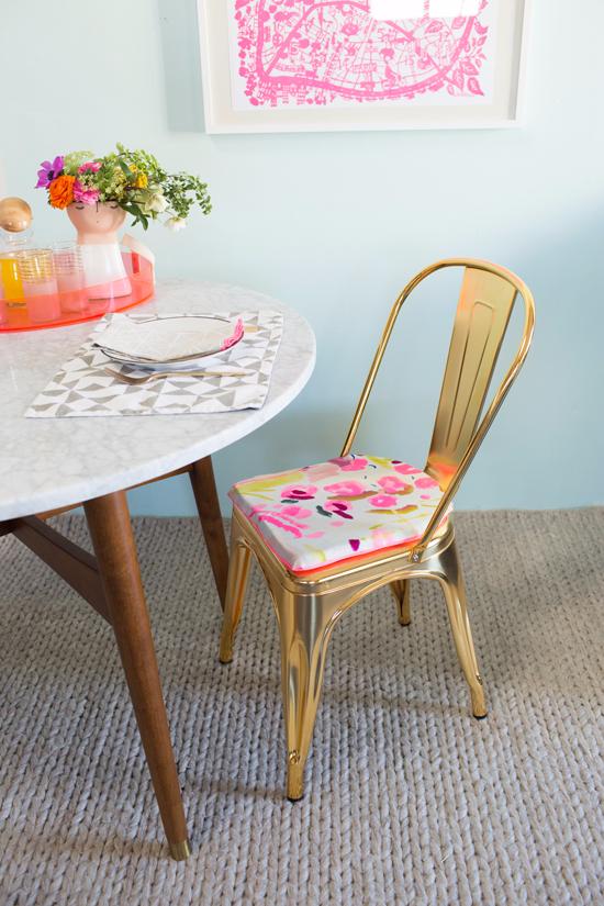 Easy DIY Cushion Covers for a Modern Chair