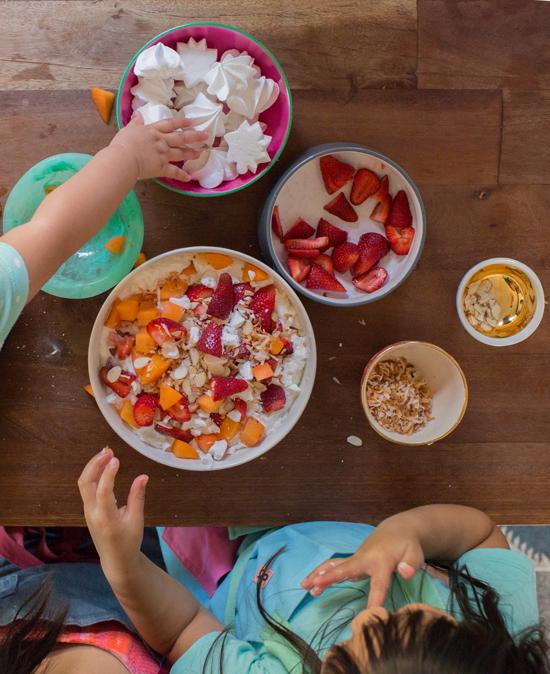Making an Eton Mess with Kids