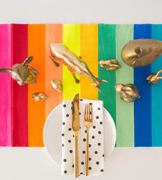 Rainbow Table Runner DIY