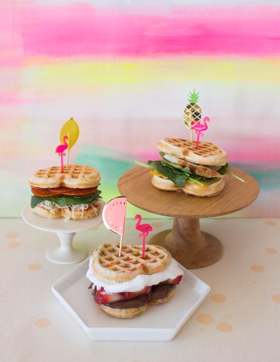 Mini Waffle Sandwiches