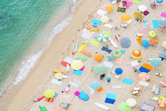 Gray Malin Barcelona Beach Print