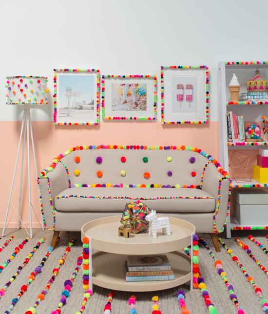 a pom-pom living room