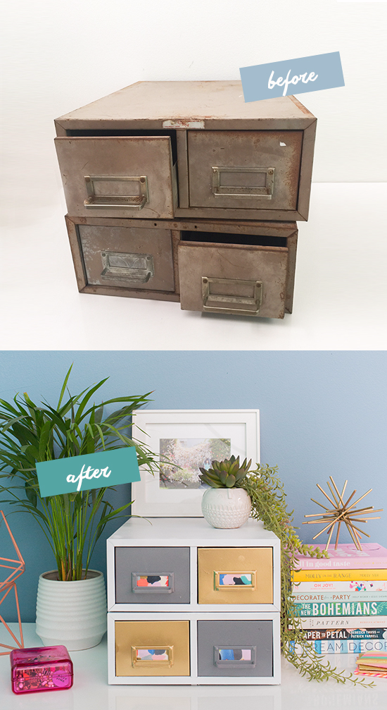 old drawers turned new