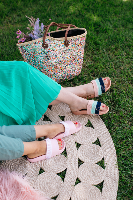 DIY fringe sandals / Oh Joy!