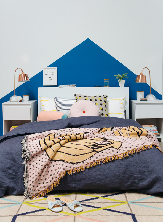 color adventures: a yellow and blue bedroom!
