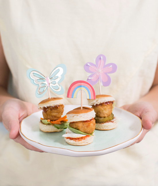 mini meatball sliders for kids!