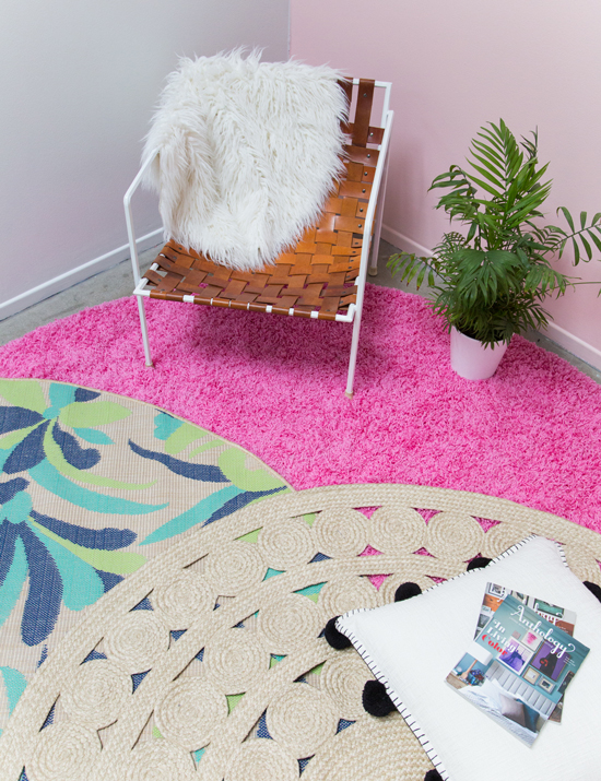 how to style with a circle rug
