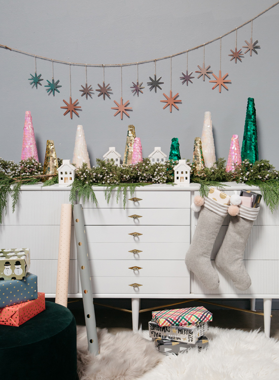 Sequin Christmas Tree DIY / Oh Joy!