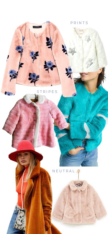 My Favorite Faux Fur Jackets Right Now... / Prints, Stripes, Neutral