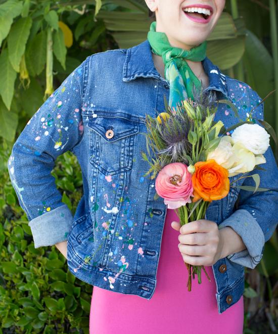 A DIY Splatter Paint Denim Jacket / Oh Joy!