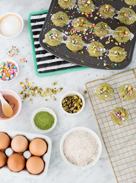 Mini Matcha Funfetti Muffins / Oh Joy!