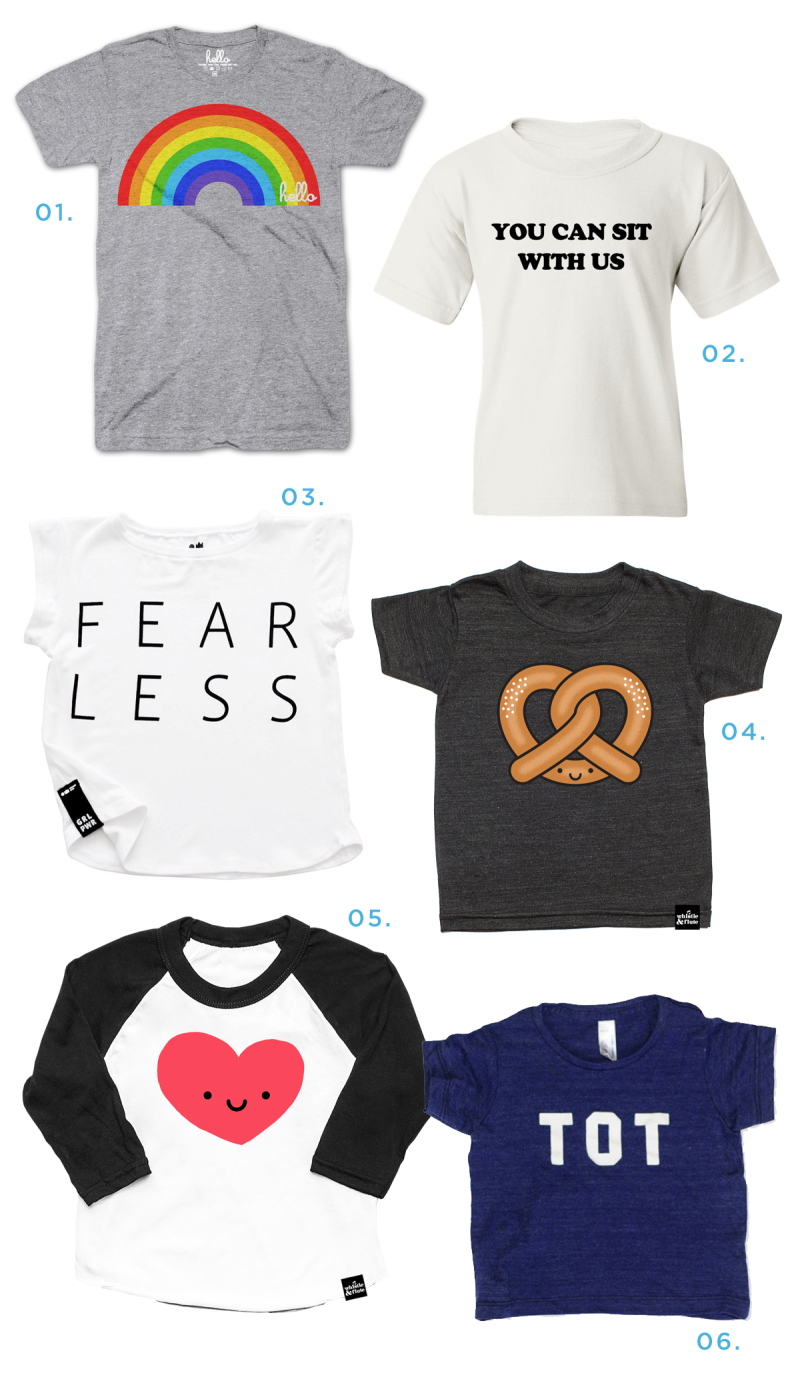 6 Cool Kids' Graphic Tees... / via Oh Joy!