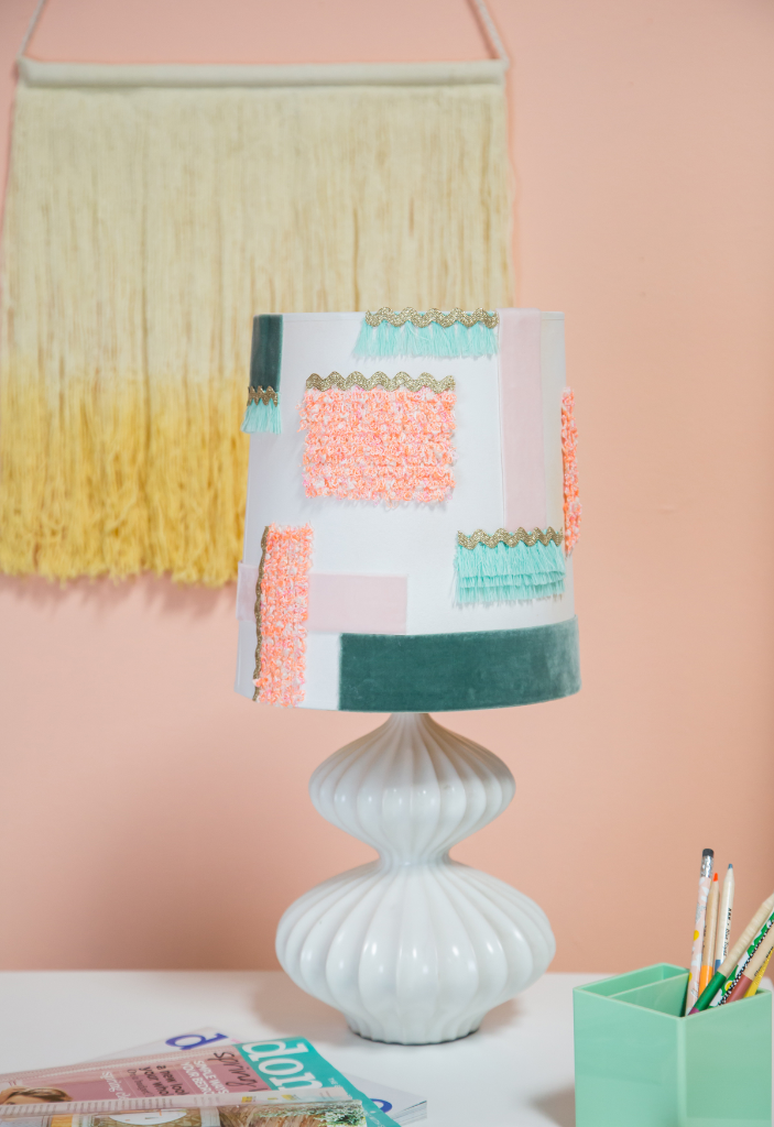 How To Make A Textured Lamp Shade / Oh Joy!