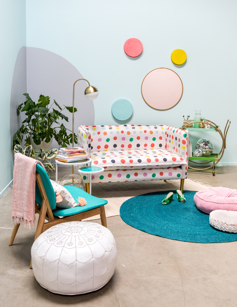Pattern Adventures: A Dotty Living Room / Oh Joy!