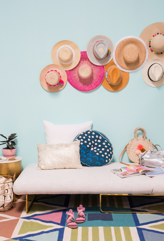 A Hat Gallery Wall / via Oh Joy!