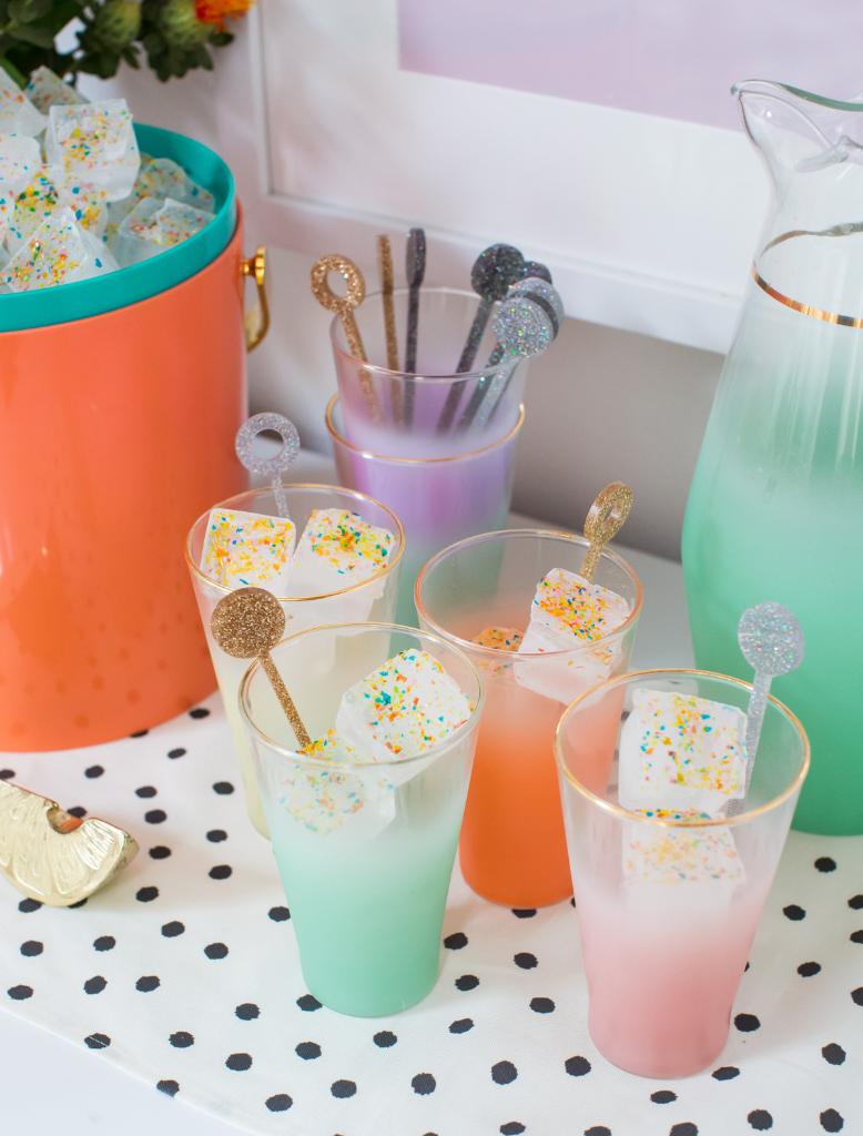 Glitter Party Ice Cubes / via Oh Joy!
