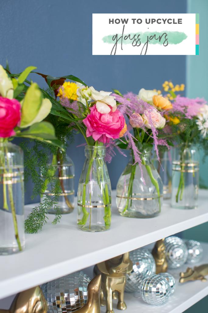 A Super Simple Way to Upcycle Glass Jars... / via Oh Joy!