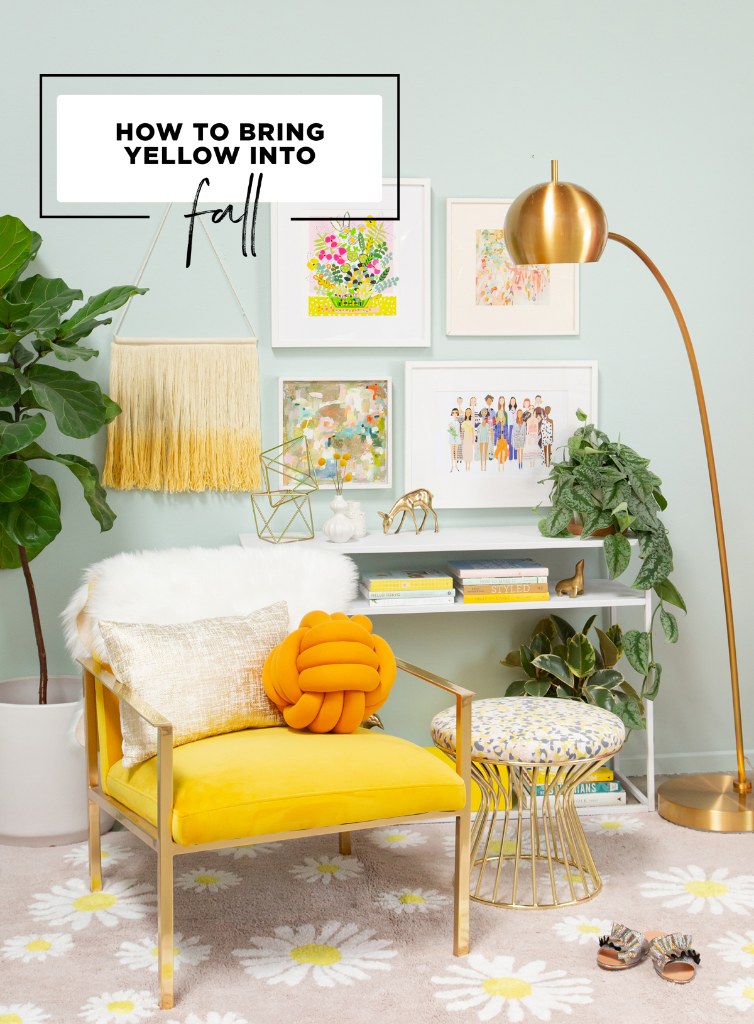 how to bring yellow into fall / oh joy!