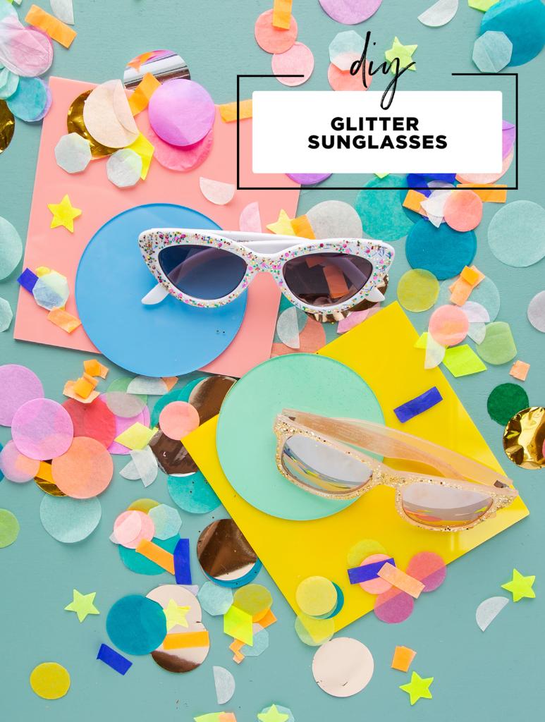 DIY Glitter Sunglasses... / via Oh Joy!
