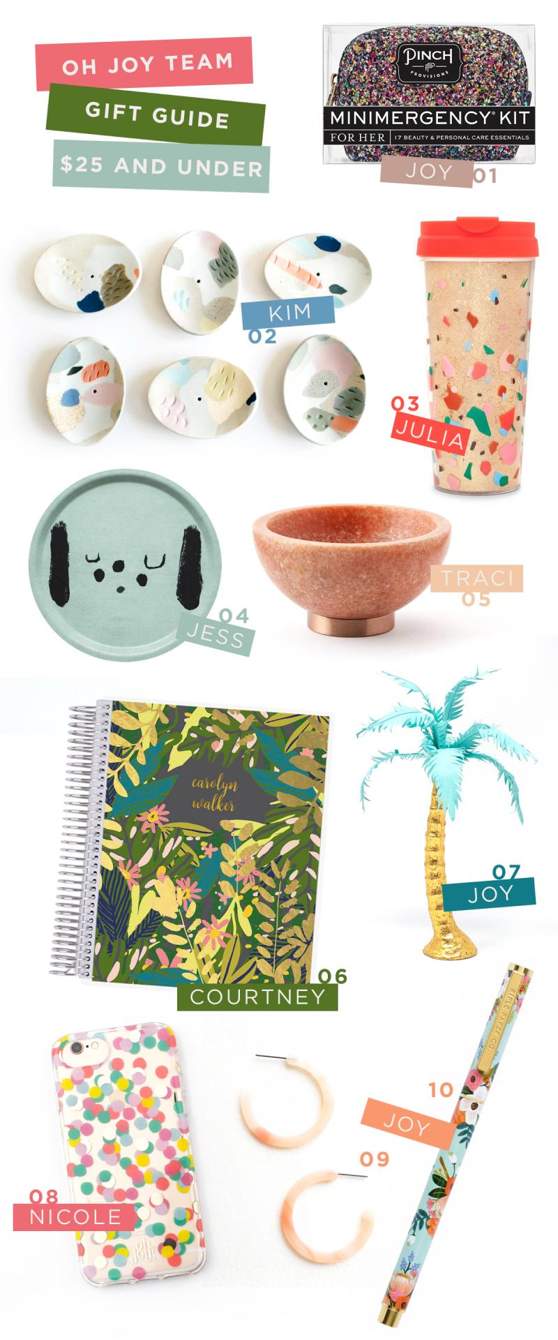 Oh Joy! Team Gift Guide: $25 and Under: Traci, Nicole, Julia, Jess, Kim, Courtney, and Joy / via Oh Joy!