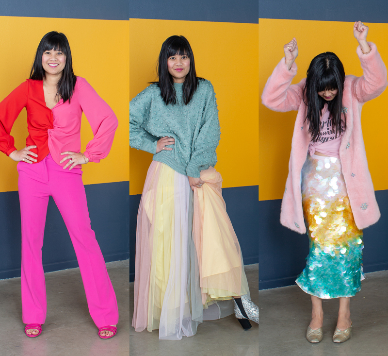 Pattern Adventures: Oh Joy Wears Color-Blocked Outfits! / via Oh Joy!