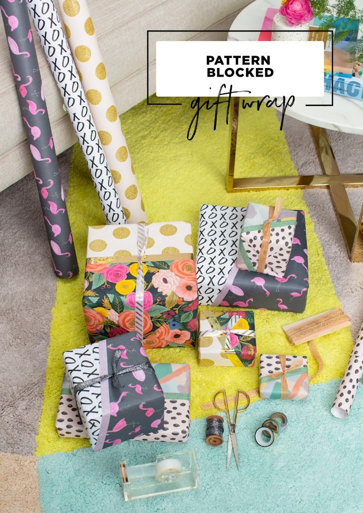 Pattern Block Gift Wrap / via Oh Joy!
