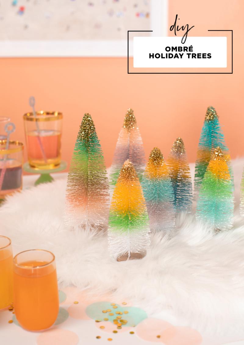 DIY Ombré Holiday Trees / via Oh Joy!
