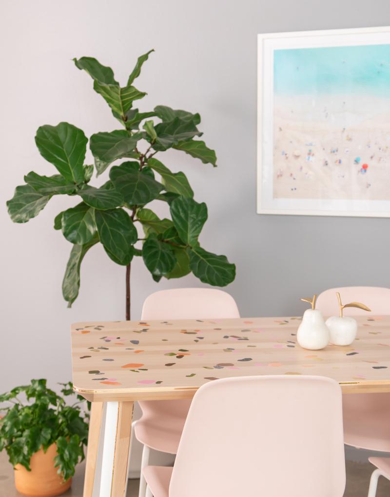 A Cool Terrazzo Table DIY... / via Oh Joy!