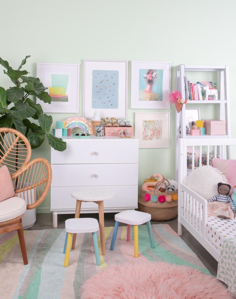 A Pretty Pastel Nursery to Grow with your Child / via Oh Joy!