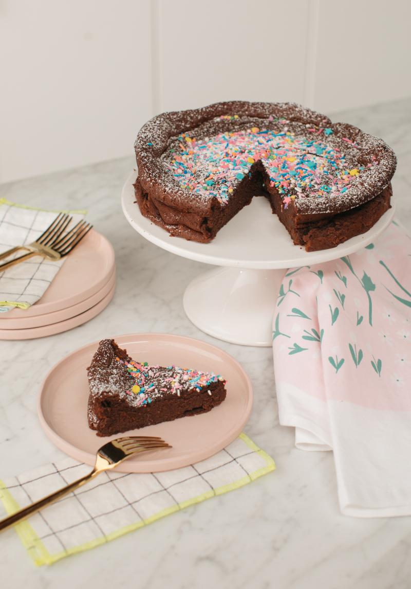 Flourless Chocolate Torte / Recipe via Oh Joy!