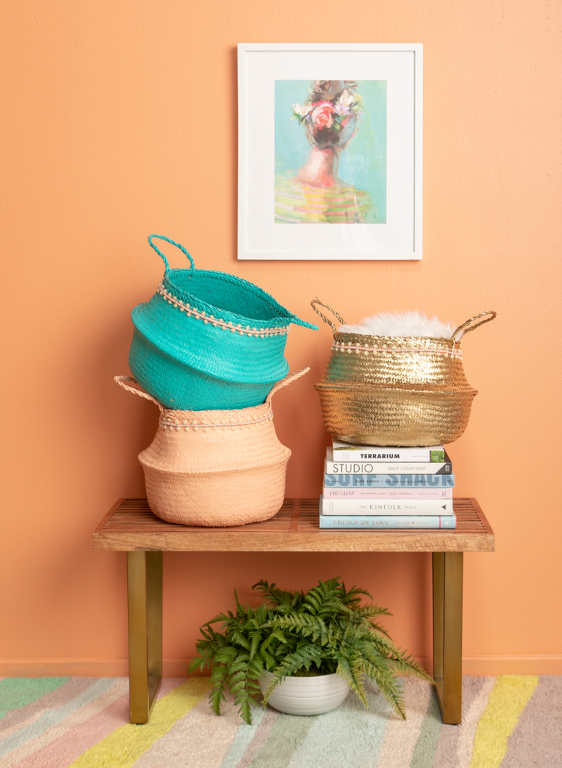 DIY: Colorful Painted Baskets / via Oh Joy!