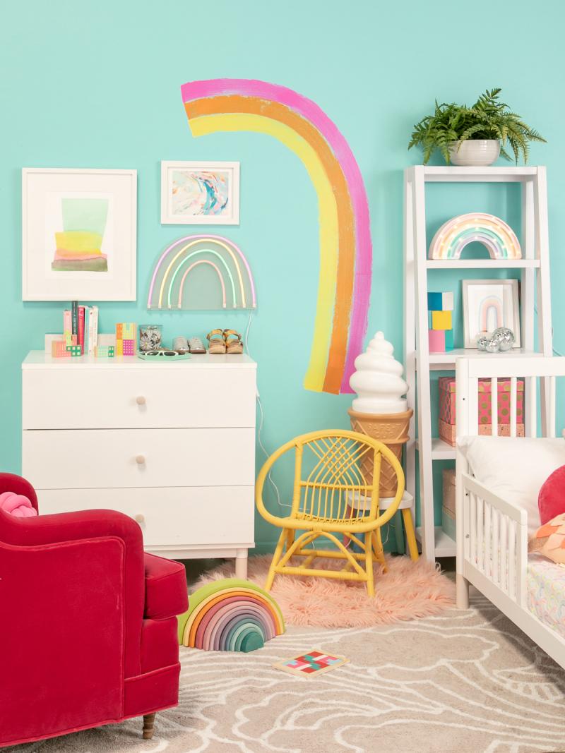 A Very Rainbow Kid's Room / via Oh Joy!